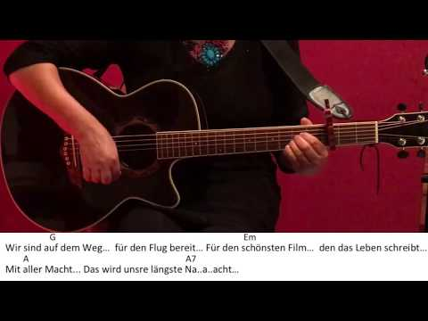 Flieger - Helene Fischer /Guitar/Gitarre/Tutorial/Cover/Chords/Akkorde/Lyrics/Text/easy