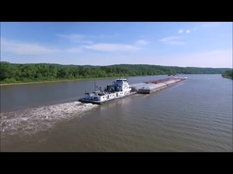 Two Towboats on the Illinois River