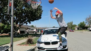 How to NOT Dunk over a CAR PART 2!! (Vlog 171) Video