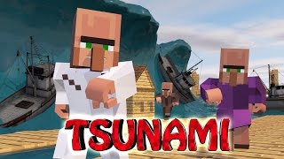 Minecraft | TSUNAMI NATURAL DISASTER CHALLENGE - Tsunami Destroys City!