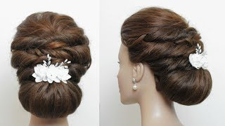 Simple Low Bun For Long Hair Tutorial. Updo Hairstyles