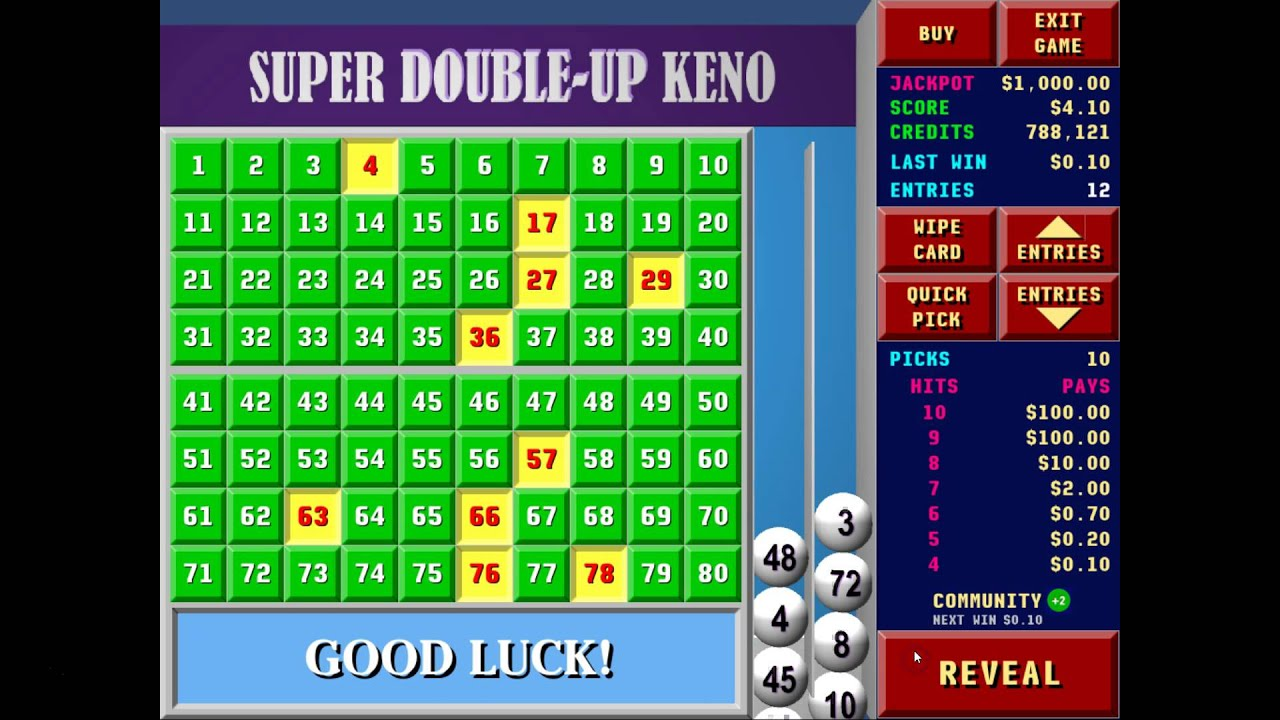 Permalink to Super Double Up Keno