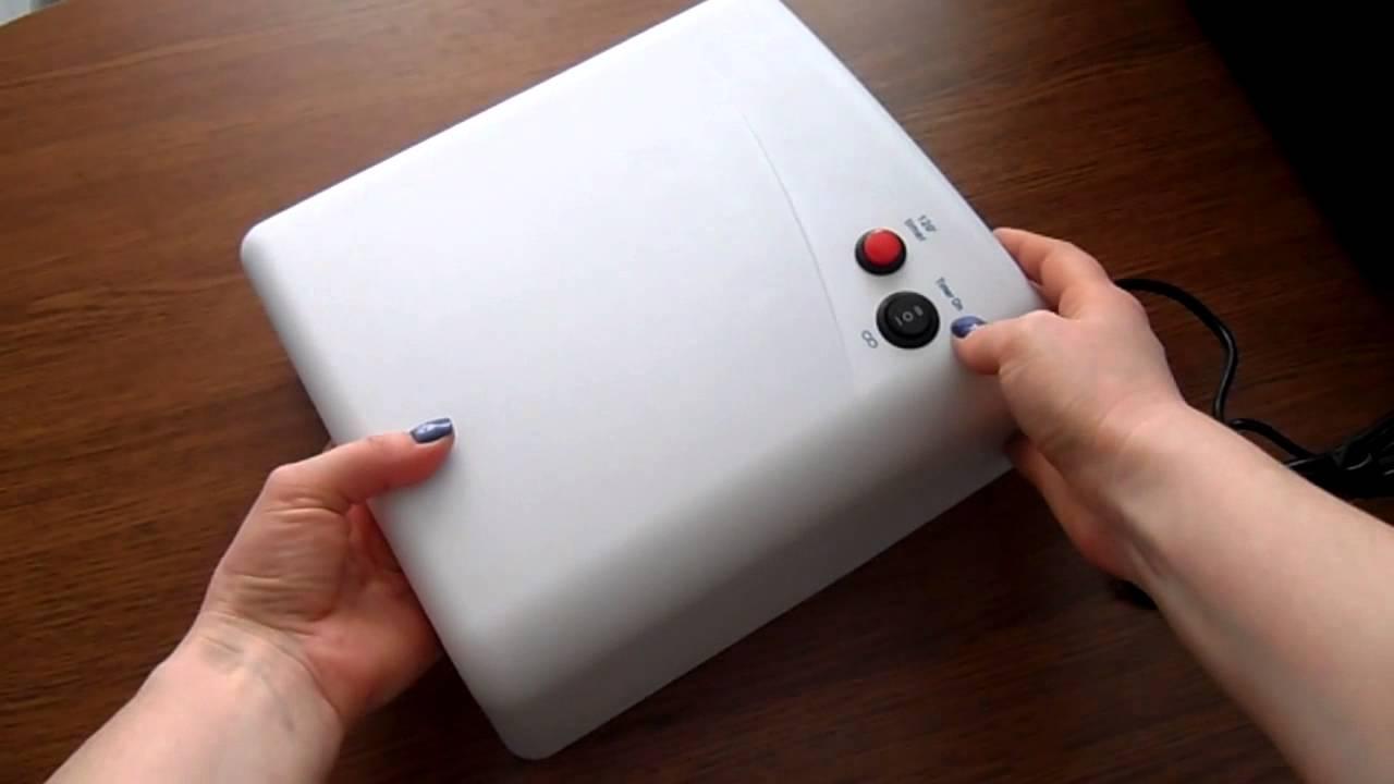 УФ CCFL/LED гибридная лампа для ногтей ZS-LCL005 48W. Видео обзор .