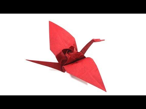 Origami Tsuru Kawasaki Rose Crane tutorial (Satoshi Kamiya) 折り紙 ツル川崎ローズ