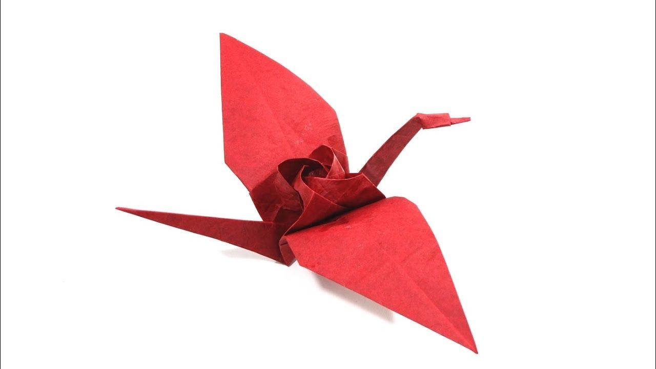 Origami Tsuru Rose Tutorial Lets Make It Diagram1 Kawasaki Crane Satoshi Kamiya