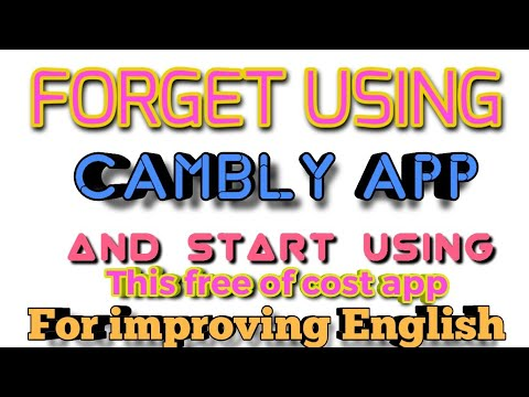 Free Alternative Of CAMBLY APP For Improving English Speaking Skills Link In Description