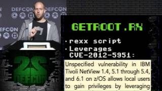 "DEF CON 22 - Philip ""Soldier of Fortran"" Young - From root to SPECIAL: Pwning IBM Mainframes"