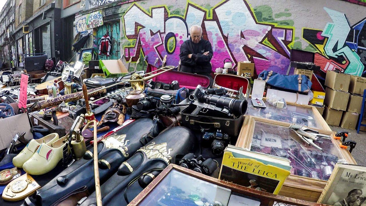 London Travel A Walk Around The Flea Markets And The Graffiti Of