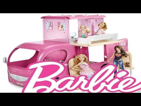 Barbie Pembe Karavan yeni -  Barbie Pop-Up Camper Vehicle