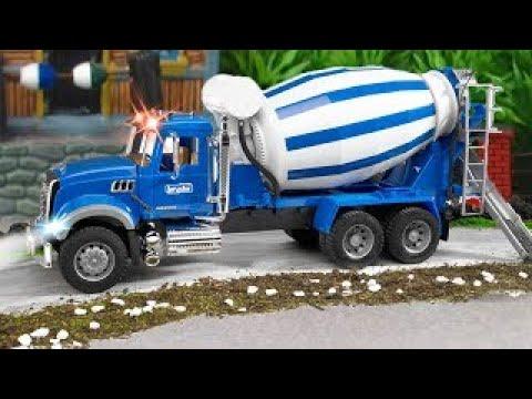 NEW Cement Mixer Truck Car Construction Real Children Cartoon