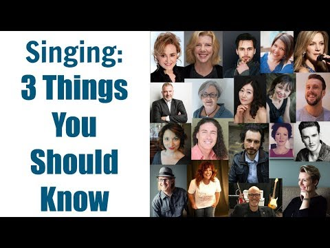 SINGING TEACHERS ANSWER: What are 3 things you wish you knew when you started learning to sing?