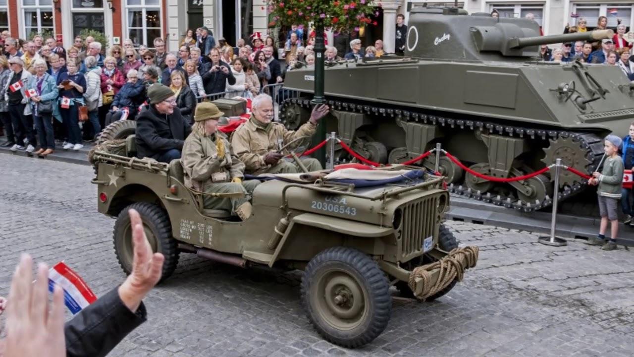 75 jaar Bevrijding van Bergen op Zoom door Canadezen | militair defilé |Slag om de Schelde