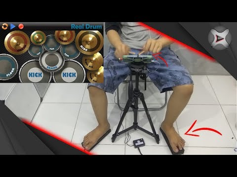 Main Real Drum pake Pedal & Stick? | DIY Smartphone Drum Pedals & Drum Sticks from YouTube · Duration:  20 minutes 44 seconds