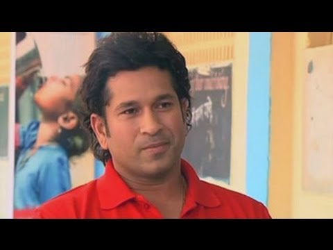 Tendulkar celebrates NDTV-Coca Cola's Support My School Campaign