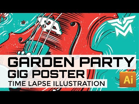 Gig Poster Time Lapse - Garden Party