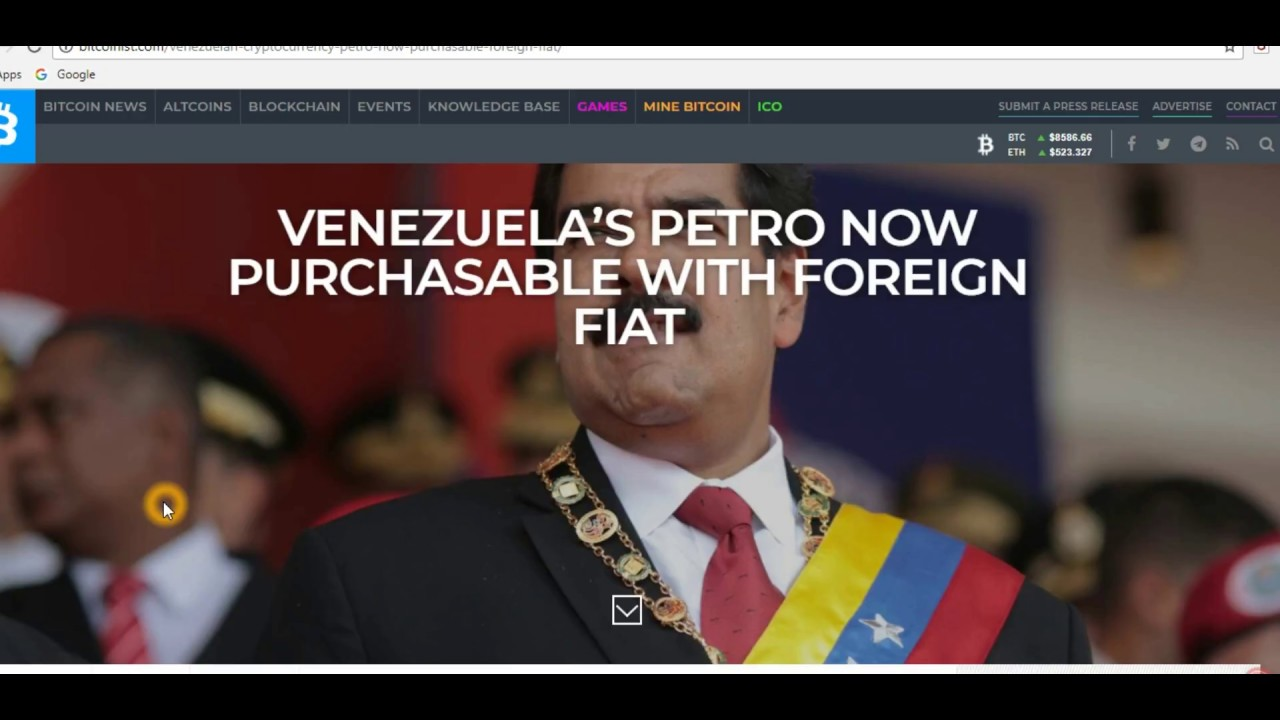 Today Latest Cryptocurrency News Live :VENEZUELA'S PETRO Kik Messenger