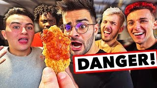 HOT WINGS CHALLENGE (défi extreme feat. HUGOPOSAY, LONNI, SCOOT 2 STREET, NICO MATHIEUX...)