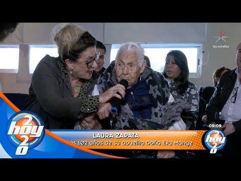 ¡Thalía se hace presente en el cumpleaños de su abuela Eva Mange! | Hoy