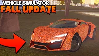 *NEW CODE UPDATE!* VEHICLE SIMULATOR FALL UPDATE! (Roblox)