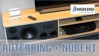 Roterring TV Board inkl. Nubert A-600 Lautsprecher
