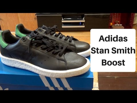 Adidas Stan Smith Boost Unboxing/ On Foot Review (Core Black)