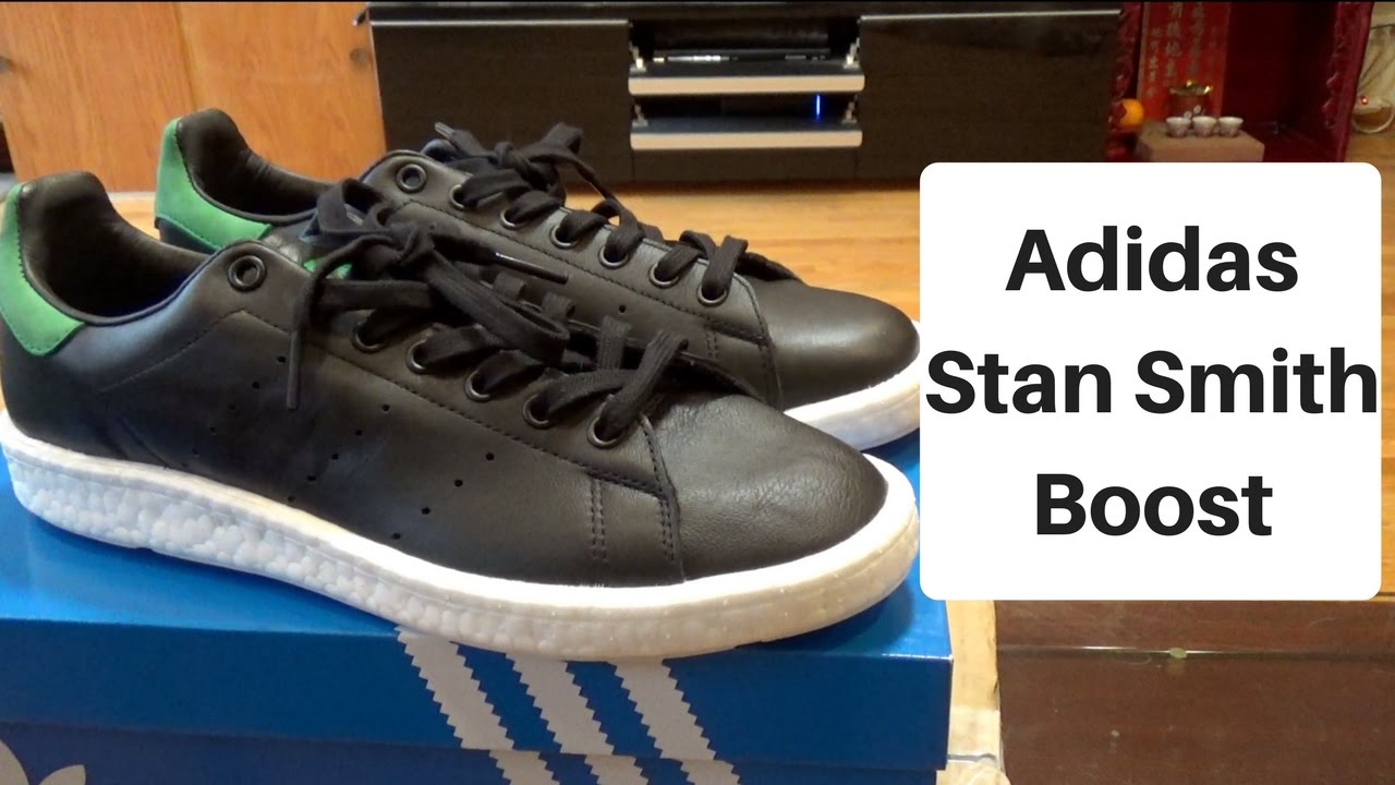 premium selection 20615 0a4a9 Adidas Stan Smith Boost Unboxing/ On Foot Review (Core Black)