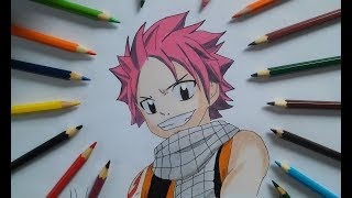 Como Desenhar e colorir Natsu - Fairy Tail -  How to draw and color Natsu