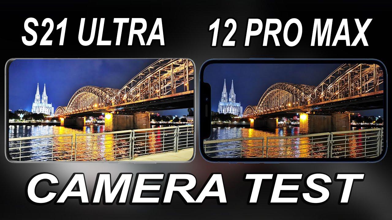 Samsung Galaxy S21 Ultra vs iPhone 12 Pro Max Night Mode Camera Test