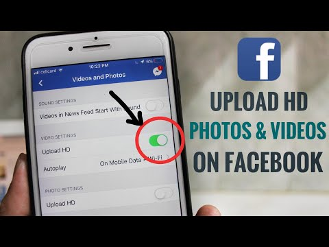 How to upload photos on facebook in hd