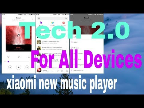 Xiaomi New Music Player for All Devices | Miui 10 Music Player| Download  Link #2018