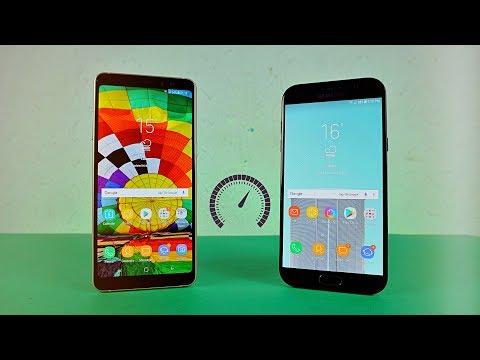 Samsung Galaxy A8 Plus 2018 vs Galaxy A7 2017 - Speed Test!