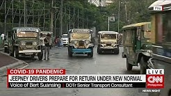 Jeepney drivers prepare for return under new normal