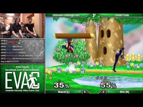 EVAC - Muscat (Fox/Sheik) vs Nick (Marth/Falco) - Grand Finals - SSBM