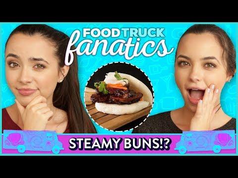 STEAMY BUN CHALLENGE?! Food Truck Fanatics w/ Merrell Twins