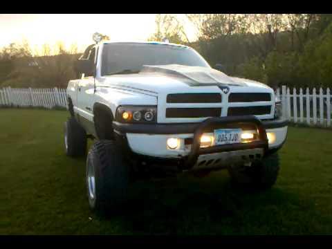 """98 Dodge ram 8"""" lift cam idle - YouTube"""