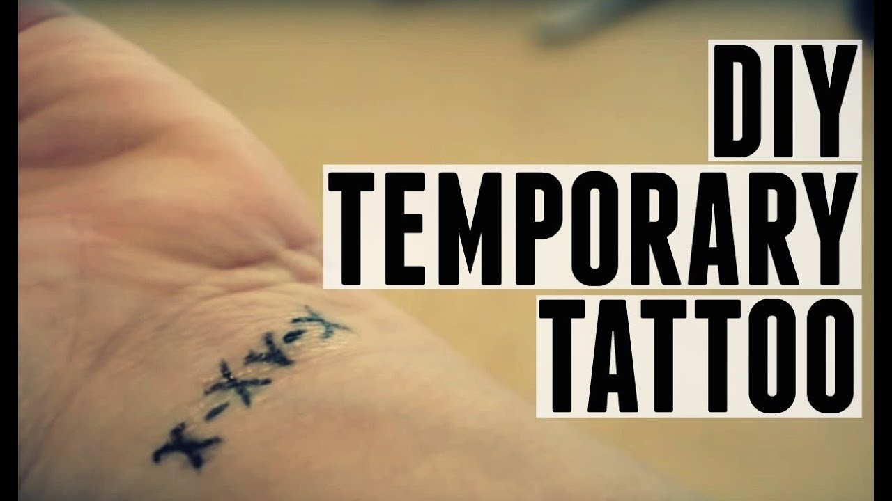 Custom Temporary Tattoo | DIY - YouTube