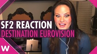 REACTION: Destination Eurovision semi-final 2 in France (American woman)