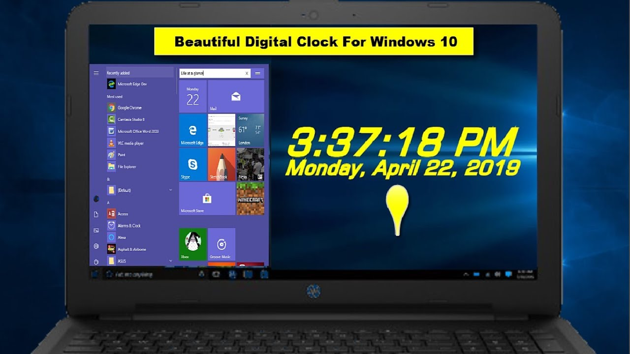 Best Desktop Digital Clock for Displays in Windows 10