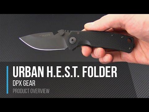 DPX Gear Urban H.E.S.T.  Triple Black USA Made Folder Overview