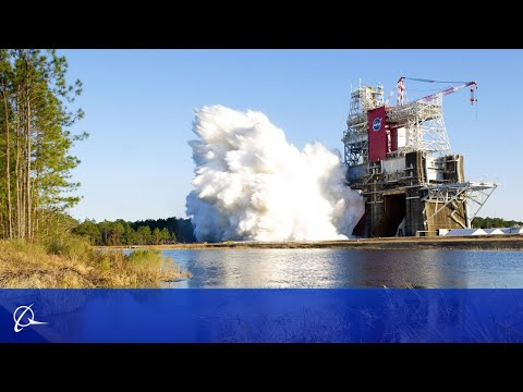Boeing Engineers Prepare to Hot Fire NASAs Space Launch System Rocket Core Stage