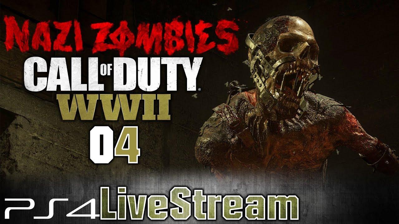 Call of Duty WWII , LiveStream 04 [FR] Mode ZOMBIE SOLO (Vague 26)