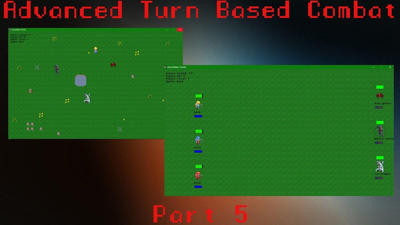 [GAMEMAKER STUDIO 1] Advanced Turn Based Combat – Part 5