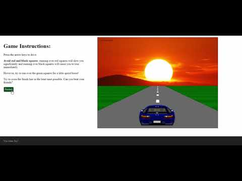 Sunset Drive Game In JavaScript With Source Code | Source Code & Projects thumbnail