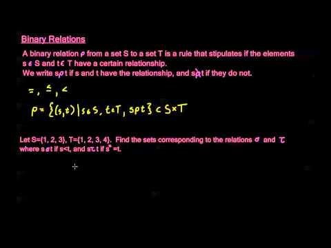 4.1.1 - Binary Relations