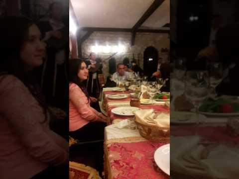 Dinner at Sirvanzah Muzey Restaurant, Baku, Azerbaijan.