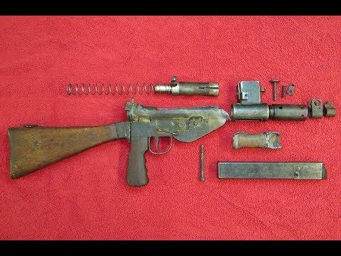 British Sten MKV WW2 SMG Parts Kit Overview