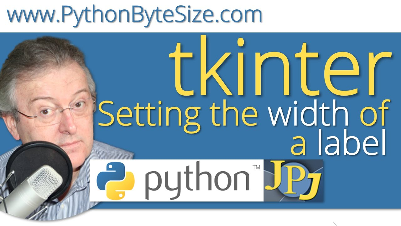 Setting the width of a tkinter label