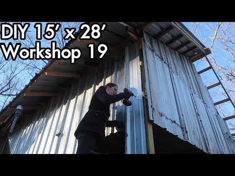 Building a 15'x28' (5mx9m) Workshop 19: Closing the Loft, adding Roof Trim