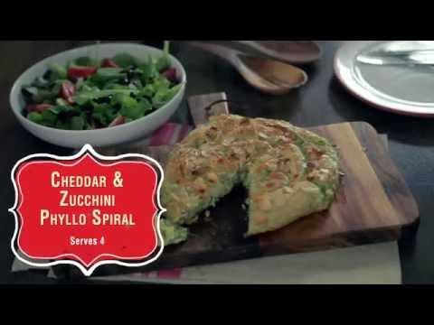 Cheddar & Zucchini Phyllo Spiral thumbnail
