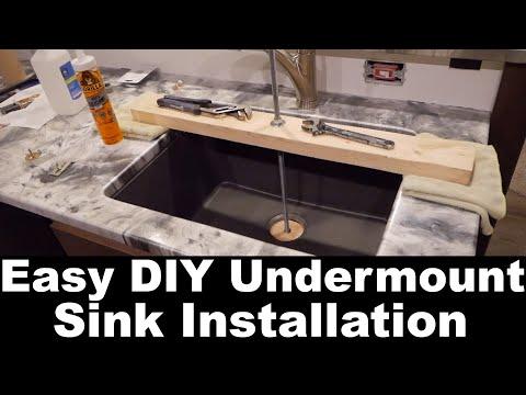 DIY Easy Undermount Sink Install